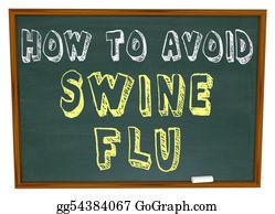 Emergencies-And-Disasters - How To Avoid Swine Flu - Words On Chalkboard