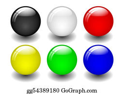 Six-Spheres-Balls-Illustration-With - Coloured Balls