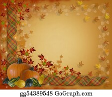 Fall-Harvest-Background - Thanksgiving Autumn Fall Border