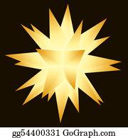Christmas-Gold - Moravian (multi-Pointed) Christmas Star