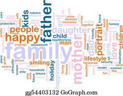 Illustration-With-Happy-Family - Family Word Cloud