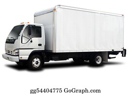 Delivery truck isolated on white background clipping paths included - Truck Stock Photos Gograph