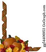 Fall-Harvest-Background - Thanksgiving Border Autumn Fall Ribbons