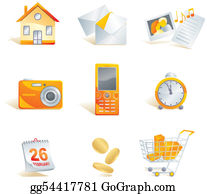 Time-For-Shopping - Icon Set - Web, Commerce And Electronics Items