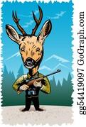 Antler - Deer Hunter With Rifle