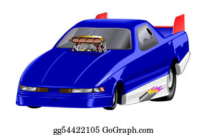 Muscle-Car - Car - Dragster Blue