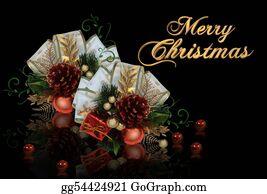 Christmas-Gold - Christmas Decoration On Black Background
