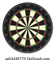 Bullseye - Dart Board - Isolated