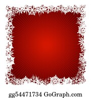 Snowflake - Square Red Snowflake Background