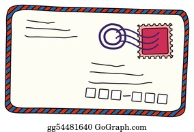 Air-Mail-Stamp - Envelop