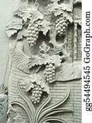 Beautiful-Unicorn - Grapes Stone Carving
