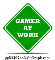 Computer-Nerd - Gamer At Work Sign