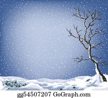 Falling-Snow-Background - Winter Landscape
