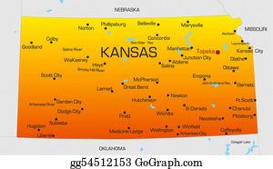 Map-Of-Kansas-Usa - Kansas