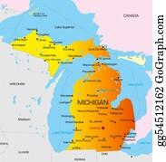 Map-Of-Kansas-Usa - Michigan