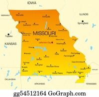 Map-Of-Kansas-Usa - Missouri