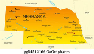 Map-Of-Kansas-Usa - Nebraska