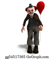 Emotions - Funny Circus Clown With Lot Of Emotions