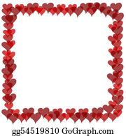 Valentine-Border-Hearts-Frame - Valentines Border - Overlapping Hearts