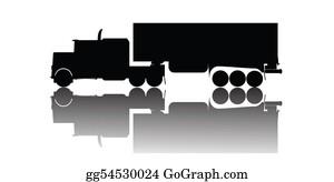 Cement-Truck - Vector Truck Silhouette