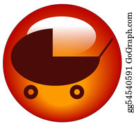 Babies-And-Toddlers-Silhouettes - Button Or Icon For A Baby Pram Or Stroller