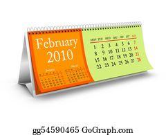 February - February 2010 Desktop Calendar