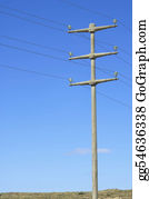 Blue-Sky - Power Pole