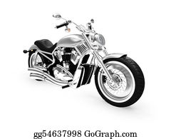 Motorcycle - Isolated Motorcycle Front View