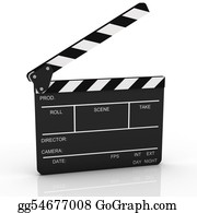 Movie-Production - Opened Clapboard In Perspective