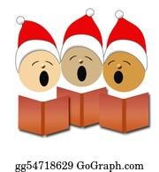 Choir - Christmas Carolers Illustration