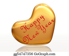 Golden-Love-Hearts - Happy New Year In Love
