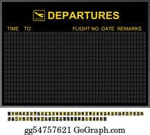 Seat-Belt - Empty International Airport Departures Board