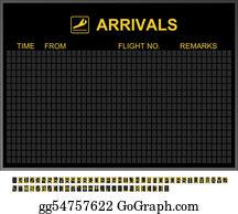 Seat-Belt - Empty International Airport Arrivals Board