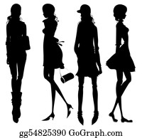 Meditative - Fashion Girls Silhouette