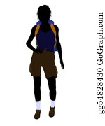 Rock-Climbing-Woman - Girl Hiker Silhouette