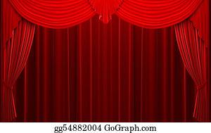 Stage-Curtain - Red Velvet Curtain Opening Scene