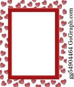 Valentine-Border-Hearts-Frame - Valentines Day Border Hearts