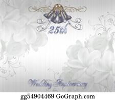 Bows - 25th Wedding Anniversary Invitation