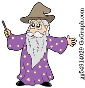 Beards - Wizard With Magic Wand