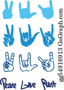 Hand-Sign - Peace Hand Sign Logo Love Rock
