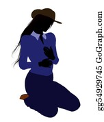 Cowboy-Boots - Cowgirl Illustration Silhouette2