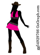 Cowboy-Boots - Cowgirl Illustration Silhouette