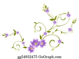 Vine - Purple Flower