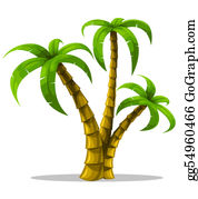 Palm-Tree - Tropical Palm Trees Isolated On White