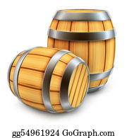 Beer - Wooden Barrel For Wine And Beer Storage Isolated