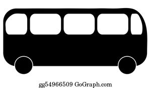 Bus-Drivers - Silhouette Illustration Showing A Side View Of A Bus