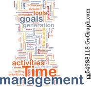 Management - Time Management Word Cloud