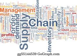 Vendor - Supply Chain Background Concept