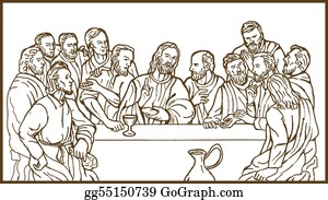 Catholics - Last Supper Of Jesus Christ The Savior And His Discplles
