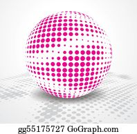Six-Spheres-Balls-Illustration-With - Disco Ball
